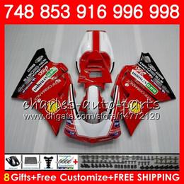 Kit para DUCATI 748 853 916 94 95 96 97 98 99 00 01 02 104HM.0 996 998 S R 1994 1995 1996 1997 1998 1999 2000 2001 2002 Fairing Factory red desde fabricantes