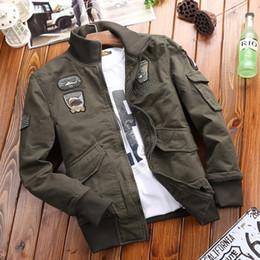 Vêtements de plein air veste militaire mis américain lâche grande taille coton lavé veste air force installé en gros transfrontalier ? partir de fabricateur