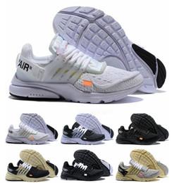2018 Presto White Virgil Scarpe da corsa da donna da uomo Air Cushion Off  Casual Designer Prestos Sneakers sportive 3 lacci colorati Taglia 36-45 efe744921a3