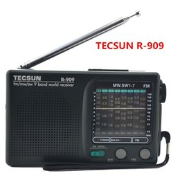 Düşük fiyat Tecsun R-909 FM / MW / SW Bant Kelime Alıcısı Taşınabilir FM Radyo Stereo tecsun R909 dijital cep radyo ücretsiz kargo cheap tecsun digital radio nereden tecsun dijital radyo tedarikçiler