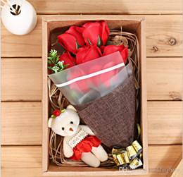 meilleurs cadeaux d'anniversaire Promotion Cadeau d'anniversaire de fête des mères 3 têtes savon rose fleurs mélange de couleurs meilleur cadeau pour le cadeau de la Saint-Valentin pour petite amie