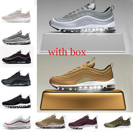 aca36cc37124 2019 New 97 Og Undftd Undefeated Triple white Running shoes 97s OG Metallic Gold  Silver Bullet Mens trainer Women sports sneakers