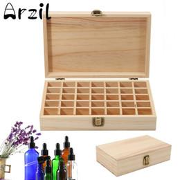 Wholesale Jewelry Treasure Box - 1pc Wooden Storage Box Essential Oil Bottles Aromatherapy Container Carry Organizer Storage Box Metal Lock Jewelry Treasure Case