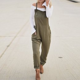 144c5c43422 ZANZEA Women Jumpsuit 2018 Summer Army Green Long Playsuit Pockets Casual  Loose Combinaison Femme Overalls Bodysuit Rompers 5XL