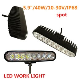 Wholesale Led Lights For Atv - 40W Offroad LED Light Bar Combo Beam For Car ATV SUV Boat Yacht Motorcycle Bumper Lamp 4WD AWD Truck 12v 24v Drive Style
