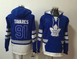 New Maple Leafs Felpe con cappuccio Jerseys # 91 John # 34 Matthews # 16 Marner # 29 Felpa con cappuccio Hockey Nylander Nylander Colore blu con tasche Taglia S-XXXL da