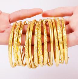 Wholesale Vietnam Gold - classic 18k Gold plated brass women bangle bracelet 10 styles Placer gold in Vietnam All over the sky star bracelets for women