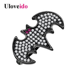 Wholesale Off Punk - whole saleUloveido Black Bat Rings for Women Animal Ring for Men Party Fashion Jewelry Decorating Punk Halloween Gifts Sale 20% Off Y323