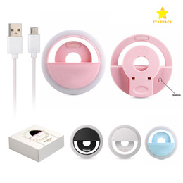 Luz LED universal Selfie Light Ring Light Light Flash Lámpara Selfie Ring Lighting Fotografía de cámara para Iphone Samsung con paquete al por menor desde fabricantes