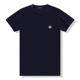 Wholesale Blue Contracts - 2018 summer new high-end men's brand t-shirt fashion short sleeve Contracted crown fashion t shirt Men's Tops Tees M-XXL