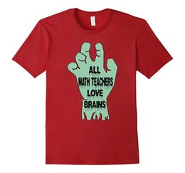 Wholesale Blue Brains - All Math Teachers Love Brains Funny Halloween T-Shirt