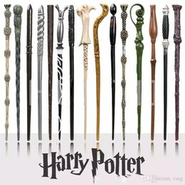 Wholesale Wholesale Magic Wands - Harry Potter Magic Wand with Ollivanders Wand Box 18 Roles Hermione Voldermort Magic Wands with Metal Core Halloween Cosplay Novelty Toy.