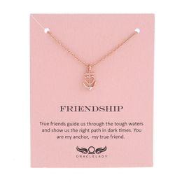 Wholesale Friendship Birthday Gifts - whole saleSykesha Valentine Day's Gift Custom Love Anchor Necklace Friendship Anchor Pendant Necklace Birthday Women Statement