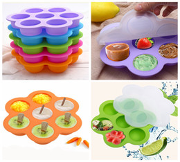 Wholesale egg cake maker - 21*21*4.5cm Silicone Egg Bite Mold Baby Food Storage Container Fruit Ice Cube Ice Cream Maker Kitchen Bar Drinking Accessories DDA250
