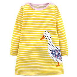 mädchen ente kleid Rabatt Baby Mädchen Kleider Baumwolle 2018 Marke Herbst cartoon Kleid Kinder Kleidung Vestido Ente Charakter Kinder Kleid Kleidung