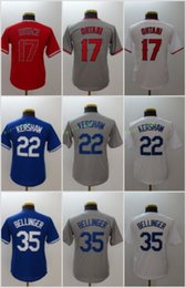 Wholesale boys baseball jersey black - Youth Kids Jerseys 17 Shohei Ohtani 22 Clayton Kershaw 35 Cody Bellinger White Grey Blue Red All Stitched 2018 Mew
