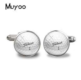 gemelli lampeggianti Sconti Nuovo calcio gemelli Golf Ball collegamento di polsino Trendy Sport Fans camicia Gioielli da uomo Round Round polsini di vetro dei gemelli di accessori