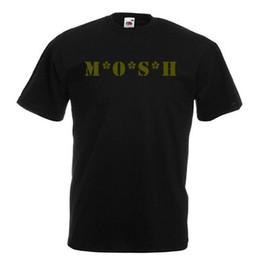 Fãs de black metal on-line-Engraçado MOSH para fãs de metal M * A * S * H paródia Black T-Shirt