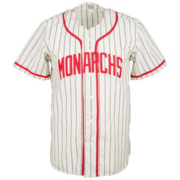 Wholesale vintage numbers - Kansas City Monarchs 1953 Home Jersey 100% Stitched Embroidery Logos Vintage Baseball Jerseys Custom Any Name Any Number Free Shipping
