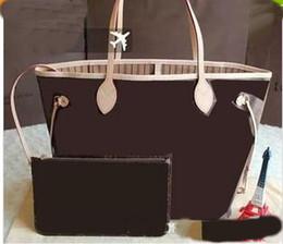 Wholesale check set - Pink sugao 4 colors lattice 2pcs set fashion handbag Lashes designer handbags tote bag cross body bag women messenger shoulder bag