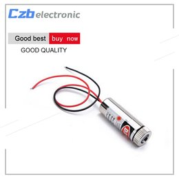Wholesale Laser Module Line - 650nm 5mW Red Cross Line Laser Module Head Glass Lens Focusable Industrial Class Grade 3V 5V