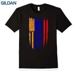 Argentina Descuento al por mayor Nueva moda para hombre de manga corta armenia americana Armenia América bandera camiseta Suministro