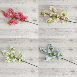 cherry blossom party decorations Coupons - Artificial Cherry Blossom Flower For Wedding Party Decorations Simulation Sakura Branch Fake Flowers Photography Supplies Many Color5 8xs ZZ