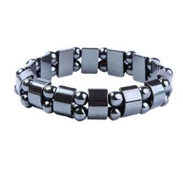 Гематитовые украшения для мужчин онлайн-Новая мода Шарм черный магнитный гематит браслет для мужчин женщин здоровые браслеты натуральный камень Браслет ювелирных изделий подарок