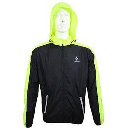Wholesale Racing Jacket Coat - Top Quality Mens Running Jacket UV Protection Racing Suits Running Jerseys Mild Waterproof Rain Coat Cycling Jackets For Men