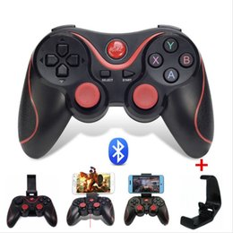Wholesale Bluetooth Controller Android - TERIOS T-3 T3 Android Wireless Bluetooth Gamepad Gaming Remote Controller Joystick BT 3.0 for Android Smartphone Tablet PC TV Box Universal