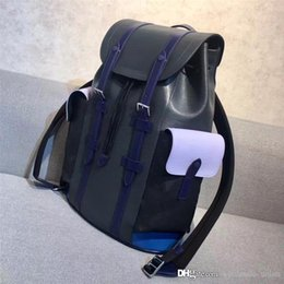 Wholesale Leather Black Backpack - Authentic 2018 backpack Sport Outdoor Packs Bag Men Women Best Quality With Original Box Original Material Black Red Blue Green