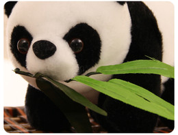 2019 niedlicher plüsch gefüllter panda 20 cm kuscheltiere plüschtiere niedlich simulation tier niedlich bambusblatt panda puppe plüschtiere rabatt niedlicher plüsch gefüllter panda