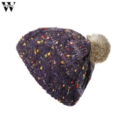 0b418d74 New Hats 1PC Women Cable Knitted Bobble Hat Plain Mens Womens Beanie Warm  Winter Pom Cap Hats 2018 Nov2