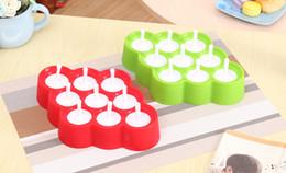 Canada Nouveau Silicone Mini Glaçons Pop Moule À Glace Ball Lolly Maker Moules À Popsicle Avec 9 Autocollants Crèmes Glacées Fabricants Pour L'été wn516 100pc cheap ice cream lolly molds Offre