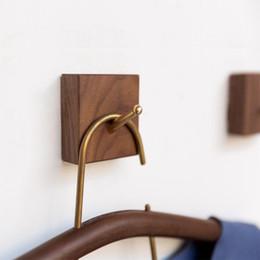 Wholesale Wholesale Decorative Coat Hooks - Creative wood coat hooks decorative wall hook minimalist modern bedroom hallway wall mount decorative hanging hooks