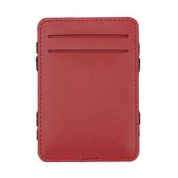 Двойная копия денег онлайн-Men Magic Flip Wallet Money Clip Bifold Slim Credit Holder Purse