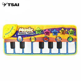 tocar piano niños Rebajas Niños multifuncionales juguetes musicales educativos informativos Juegos infantiles innovadores piano musical Estera con patrón animal precioso
