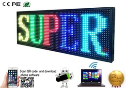 Wholesale Scrolling Led Display Sign - 360X1000MM Programmable LED Scrolling Message Display Sign led panel Indoor full color Board