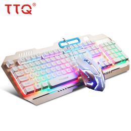 TTQ USB Gaming Keyboard Mouse Meccanico Feel Keyboard Set Wired 2000DPI Gamer Set Gamer Profesional Razer Led Gaming Mouse da