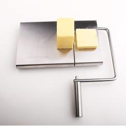 Corte de queijo on-line-Eco-Friendly Kitchen fio de aço inoxidável de corte cortador de queijo Cortador Conselho manteiga fatia de queijo cortador de faca de queijo de corte