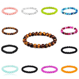 Wholesale Nature Accessories - 8mm Nature Stone Lava Stone Buddha Beads Bracelets Bangles For Men Male Strand Bracelet Jewelry Accessories OOA4490