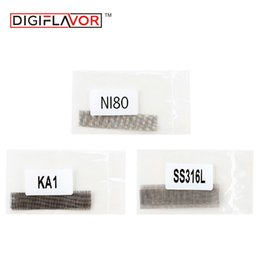 Wholesale Cigarette Mesh - Digiflavor Mesh Coil Ni80 SS316L KA1 DIY Wire Coil for Digiflavor Mesh Pro RDA and Other Electronic Cigarette 2pcs pack