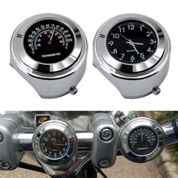 Canada Universel Étanche 7/8 '' Moto Vélo Guidon Montage Horloge Mini Horloge avec Thermomètre Température Moto Offre