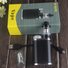 2019 vape subox Sigaretta elettronica P-Box Mod Kit Vaporizzatore con Top Fill Atomizzatore 50w Box Mod vs Subox Mini iSitck Pico Sigaretta elettronica Vape Kit vape subox economici