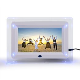 "Wholesale black photo frame clock - 7"" TFT-LCD Multi-functional Digital Photo Picture Movie Frame MP3 MP4 Player Alarm Clock Light Flashing Remote Control Desktop"