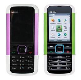 Wholesale Unlock Networks - Refurbished Original Nokia 5000 Unlocked GSM 2G Network Bar Mobile Phone 2.0 inch Screen 1.3MP Camera Cheap Phone Free DHL 1pcs