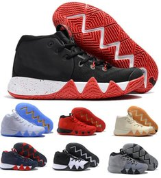 Wholesale Brand Sports Shoes China - 2018 Kyrie Irving Basketball Shoes 4 Men Man Mens White Sport BHM Kyries Shoe 4s IIII Mesh China Brand Sneakers Hombre US 7-12