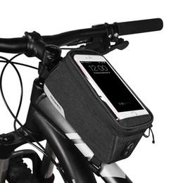2019 telefone 5.7 bildschirm MTB Rennrad Fahrrad Taschen Regenfest Touchscreen Radfahren Oben Vorne Rohrrahmen Taschen 5,7 zoll Handyhalter Tasche Fahrradzubehör günstig telefone 5.7 bildschirm
