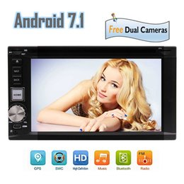 "Wholesale gps model - Best Wifi Model Android 7.1 Octa-Core 6.2"" Car DVD CD player 2 Din Stereo GPS Navigation Bluetooth 2GB 32GB Front&Backup Camera"