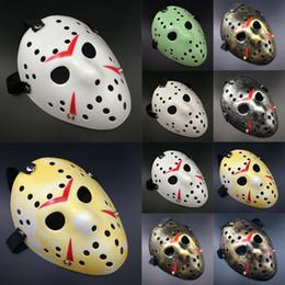 máscara do hóquei do horror de jason Desconto Máscaras de Halloween Horror Jason Voorhees Sexta-feira O 13º Horror Filme Máscara de Hóquei Várias Cores das Máscaras de Festa
